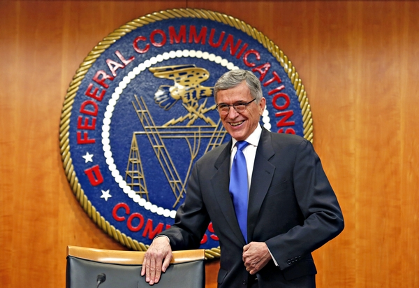 FEDERAL COMMUNICATIONS COMMISSION (FCC) CHAIRMAN TOM WHEELER ARRIVES AT FCC NET NEUTRALITY HEARING IN WASHINGTON