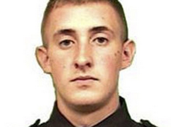New York City Police Officer Brian Moore is seen in an undated picture released by the New York City Police Department