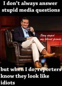 Ted Cruz on media