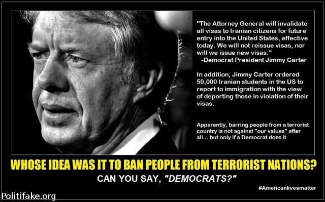 carter dems ban terrorist muslims