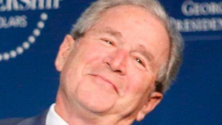 Bush grin