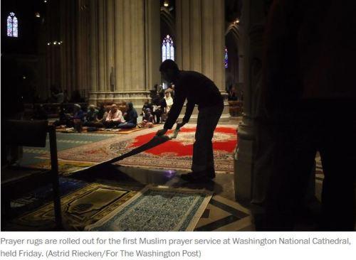 Washington National Cathedral Muslim prayer service