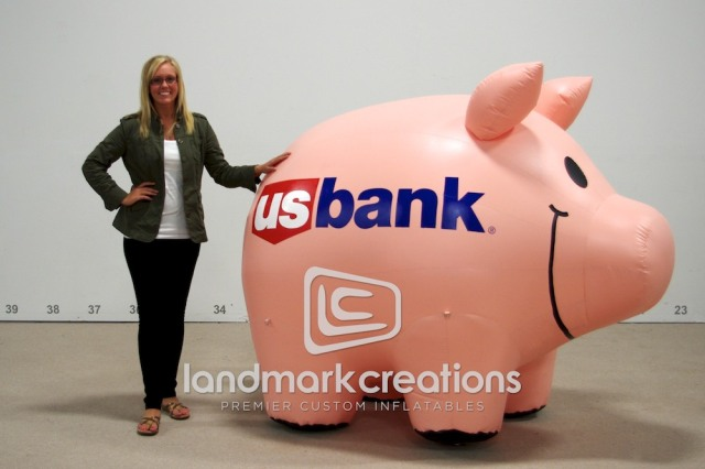 US Bank Inflatable Piggy Bank Pig Mascot