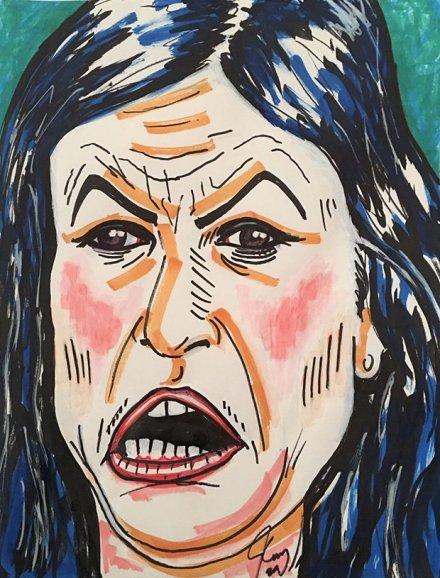 jim carrey painting of sarah sanders