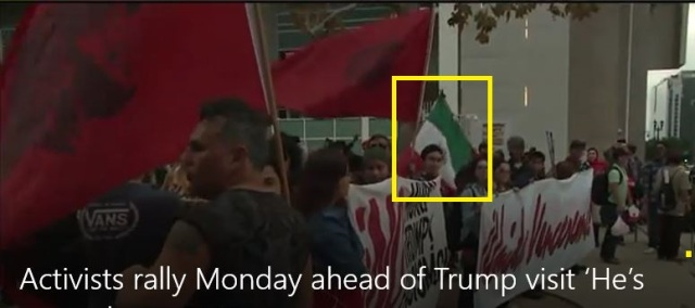 Mexican flags at anti-Trump protest 3-13-18a