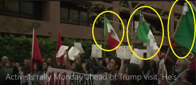 Mexican flags at anti-Trump protest 3-13-18c