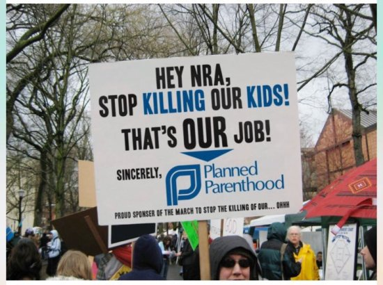 planned parenthood and nra sign