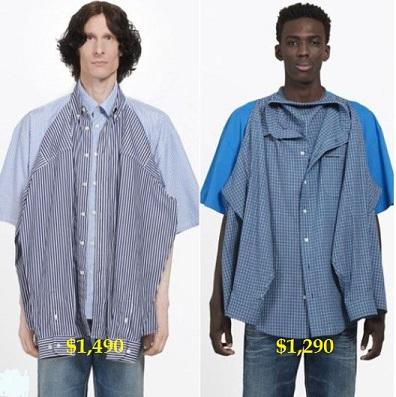 Balenciaga double-shirt shirts