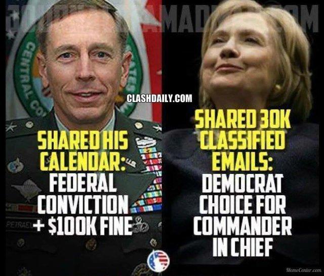 Petraeus vs Clinton
