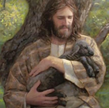 Jesus-with-black-sheep-by-Jon-McNaughton