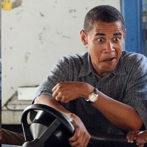 Obama at wheel