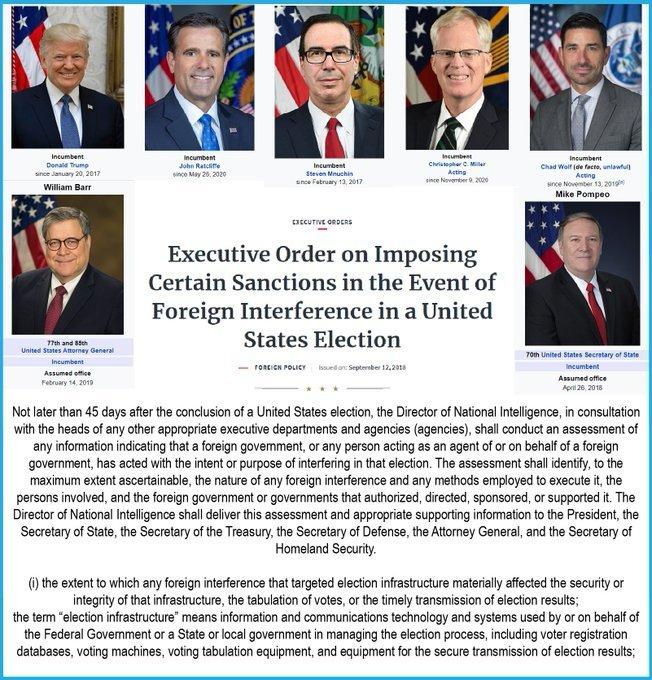 September 2018 Executive Order