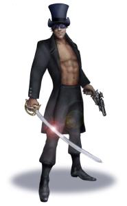 mascot sword and gun pic