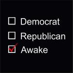 democrat republican or awake